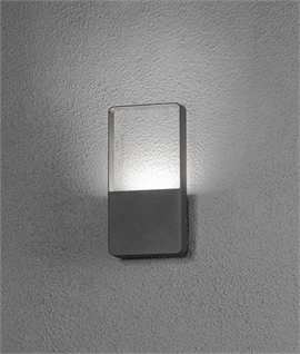 Exterior zero glare up down wall light for Low profile exterior wall lights