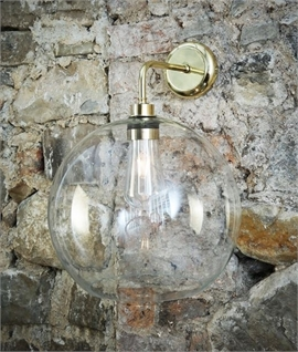 Exterior Wall Mounted Globe Lantern - Four Finishes