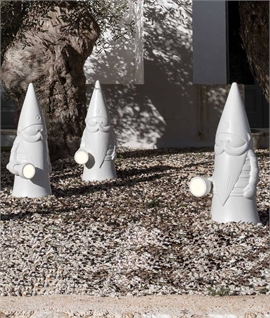 Exterior White Garden Gnome Light - IP55