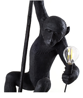 Exterior Hanging Monkey with LED Lamp