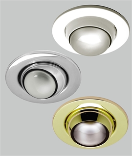 Eyeball Downlight for R80 Mains Reflector Lamps - Adjustable