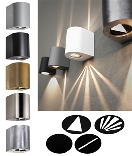 Very Funky Filtered LED Wall Light IP44 & 6 Finishes