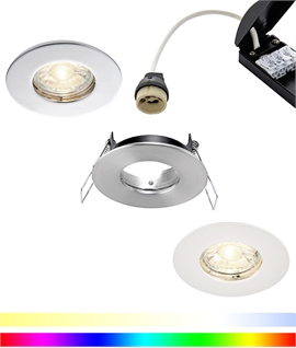 Fire Rated Low Profile Downlight with Variable Colour Plus White Lamp