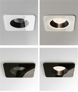 Fire Rated Square Stunning Glass LED Bathroom Downlight