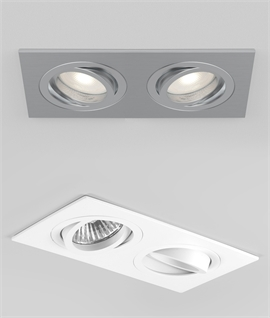 Fire Rated Twin Adjustable Interior Downlight For GU10 Lamps