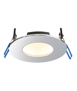 Fire-Rated Dimmable IP65 Low-Glare LED Downlight - Switchable LED Colour