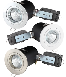 Fired Rated Downlights 12v MR16 Lamps - Fixed & Tilt