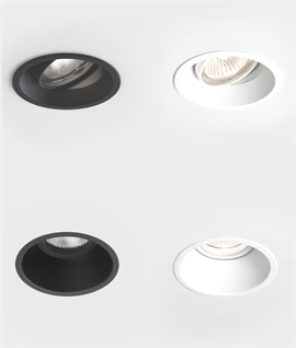 Mains Low Glare White or Black Downlight