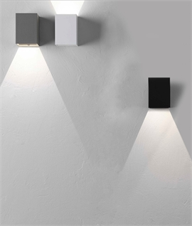 Cube Wall Fixed Downlight with LED Lamp - 3 Finishes