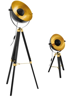 Tripod Lamps with Parabolic Reflector - Floor and Table versions