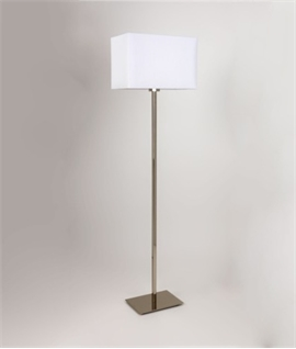 Stylish Floor Lamp - Square Fabric Shade