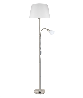 Floor Lamp with Adjustable Reading Light and Shade