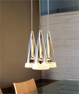 Fucsia 3 Light Suspended Pendant by Flos