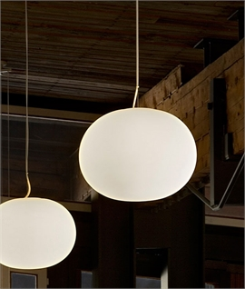 Glo-Ball S2 The Larger Opal Pendant Light by Flos