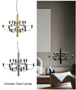 2097 Light - 18 Arm Chandelier by Flos