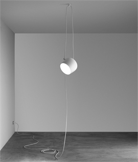White Aim Pendant with Dimmer Switch by Flos