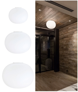 Glo-Ball Ceiling Flush Light by Flos - 3 Sizes
