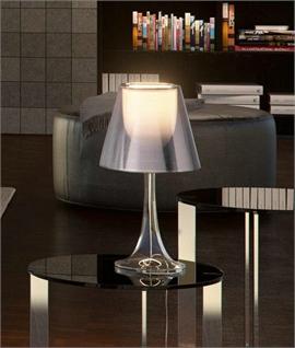 transparent table lamp. Black Bedroom Furniture Sets. Home Design Ideas