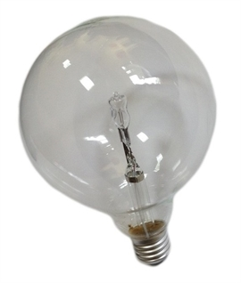 E27 28w Halogen Clear 125mm Globe Lamp