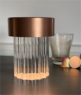 Last Order Fluted Crystal Table Lamp By Flos - Rechargeable
