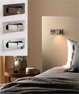 Flush Pop-Out LED Bedside Reading Light - 3 Finishes