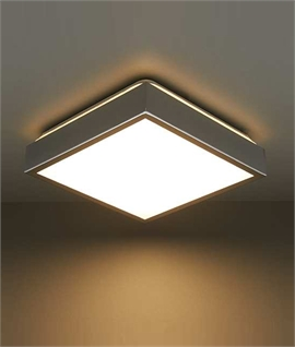 Flush Chrome and Acrylic LED Ceiling Light
