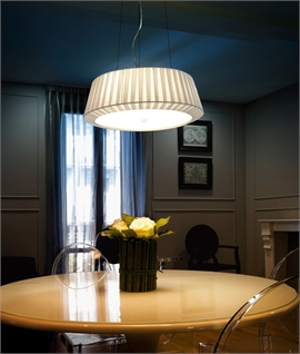 Modern Fabric Shade Flush Ceiling Fitting