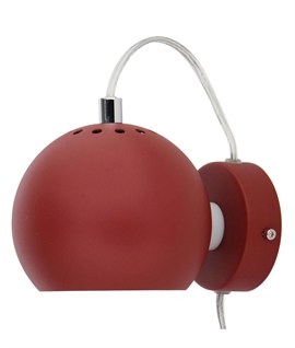 Frandsen Ball Wall Light - Matt Metallic Red