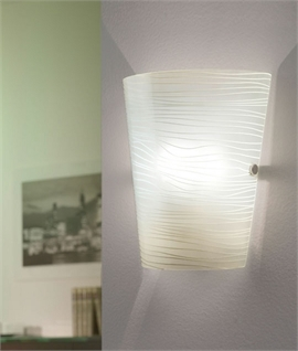 Wall sconces flush fitted wall lights lighting styles frosted striped glass wall light mozeypictures Image collections