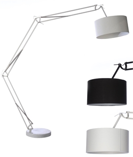 Balance Arm Floor Lamp - Fully Adjustable With Long Reach