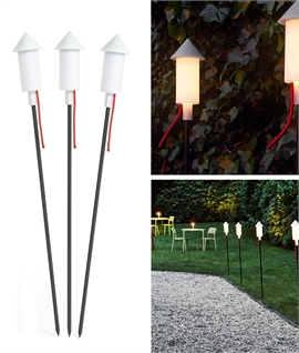 Three Full Size Fun Solar Powered Spike Lights - Fatboy Pret a Racket