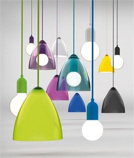 Single glass pendant lights lighting styles funky coloured pendants d220mm mozeypictures Choice Image