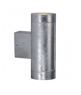 Galvanised Steel IP54 Up & Down Wall Light