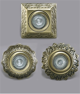 GU10 Recessed Lights For Period Houses - Antique Brass