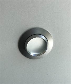 Brushed Aluminum Mains Downlight IP44 Rated