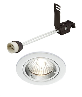 Satin Silver Adjustable Downlight for GU10 Lamps