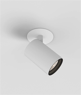 Semi-Recessed Adjustable Single Spot - GU10 Lamp