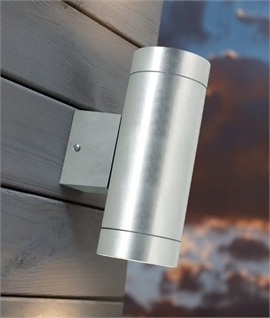 Galvanised Steel IP54 Up and Down Wall Light