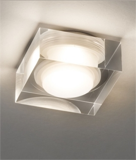 Square Glass LED Downlight IP44 Rated