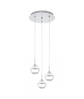 Glass & Crystal LED Globes 3 Light