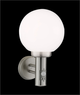 Basic Globe Wall Light with Built in PIR