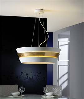 Big and Bold Modern Light Pendants - Two designs in gold and silver leaf