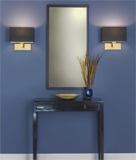 Stylish Matt Gold Wall Light with Shade
