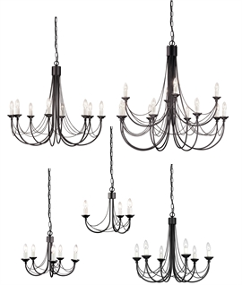 Chandeliers In An Elegant Gothic Style - 5 sizes