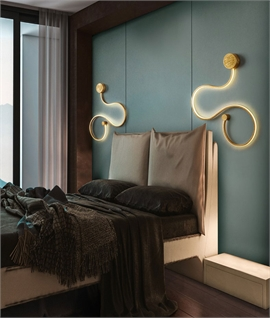 Slim Profile LED Swirl Wall Light