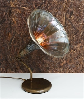 Gramophone Table Lamp - 3 Finishes