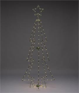 Modern LED Wire Christmas Tree with Star