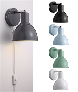 Post-war Factory Style Adjustable Wall Spotlight