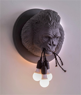 Wall Mounted Gorilla Head Light