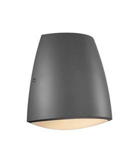 Curved Outdoor IP44 Rated Wall Light with Diffuser